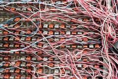 Сигнал белизны и красной линии телефонной станции всходит на борт, PABX стоковые изображения rf