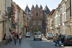Сигнал Бергена взгляда улицы op с старым стробом тюрьмы Стоковое Изображение RF