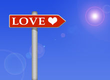 сигнал влюбленности Стоковое Фото