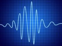 сигнал звуковой частоты Стоковое Фото