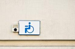 сигнал знака кнопки инвалидный Стоковая Фотография RF