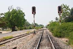 сигнал красного цвета аспекта Стоковое фото RF