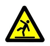 сигнал падения предосторежения Стоковая Фотография RF