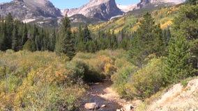 Сигнал потока горы вне в падении Стоковое Изображение RF