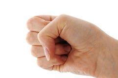 сигнал руки кулачка Стоковое Фото
