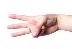 Сигнал руки стоковая фотография rf