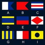 сигнал флагов i морской иллюстрация штока