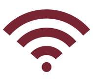 Сигнала интернета Wifi значок беспроволочного плоский Стоковая Фотография RF