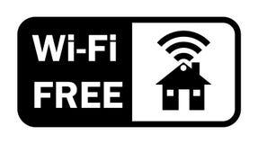 Сигнала интернета Wifi значок беспроволочного плоский Стоковое Фото