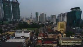 Сигнала timelapse вне города Куалаа-Лумпур сток-видео