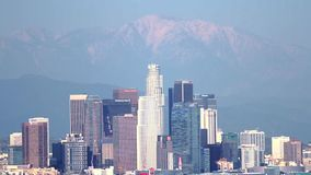 Сигнал горизонта зимы Лос-Анджелеса вне сток-видео