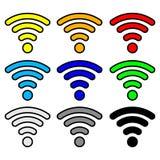 Сигнал интернета Точки доступа Multi wifi цвета беспроволочный Иллюстрация вектора