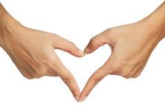 Сигнал сердца делая вручную Стоковые Фотографии RF