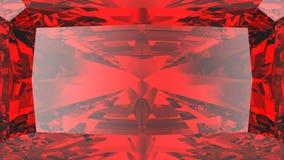 сигнал текстуры диаманта урожая иллюстрации 3D красный рубиновый Стоковые Изображения RF
