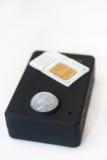 Сигнал тревоги датчика детектора движения pir Gsm с карточкой sim Стоковое Изображение RF