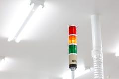 Сигнал тревоги предупредительного светового сигнала для деятельности машины Стоковое фото RF