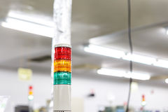 Сигнал тревоги предупредительного светового сигнала для деятельности машины Стоковое Изображение RF