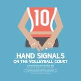 Сигналы рукой задней стороны волейболиста Стоковые Фото