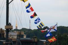 Сигнальные флаги стоковое изображение rf