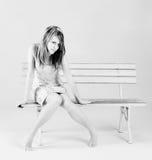 сидеть девушок Стоковое Изображение RF