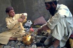 сидеть людей еды афганца Стоковые Фотографии RF