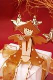 сидеть подарка коробки ангела деревянный Стоковые Изображения RF