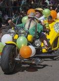 СИДНЕЙ, АВСТРАЛИЯ - 17-ое марта: Мотоцилк Hotrod в St Patric Стоковое Фото