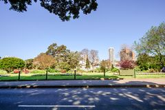СИДНЕЙ - 12-ое октября: Взгляд улицы Сиднея городской, 12-ое октября 2017 в Сиднее Стоковые Изображения