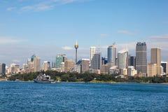 Сидней от гавани NSW Австралии Сиднея стоковое фото