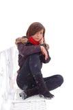 сидя женщина Стоковые Фото