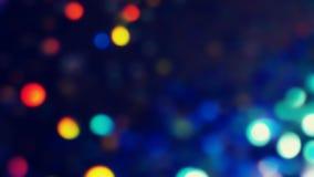 Сизоватое Bokeh освещает в много различных, ярких, и милых цветов Стоковое Изображение