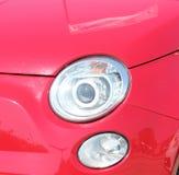 сизоватый автомобиля конца фары света желтый цвет представления вне Стоковое Изображение
