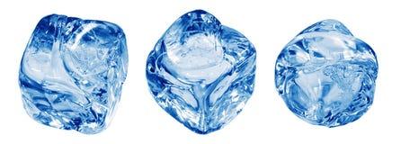 сизоватый льдед кубика стоковое фото