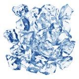 сизоватый льдед кубика стоковые изображения rf