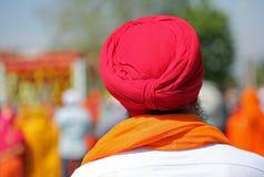 Сикхский человек с бородой и тюрбан на его голове Стоковое Изображение RF