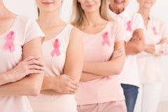 Сила воевать рак молочной железы стоковая фотография rf