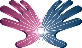 Сила вручает логотип Стоковые Изображения