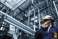 сила газовое маслоо инженера Стоковые Фото