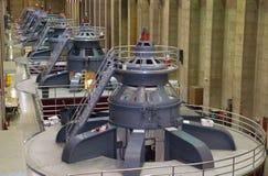 сила гидрактора генераторов Стоковая Фотография