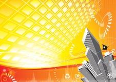 сила города солнечная иллюстрация штока