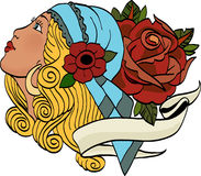 сила девушки цветка Стоковое фото RF