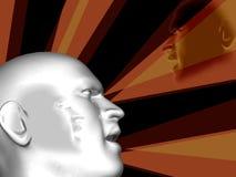 сила дела головная людская Стоковое Фото
