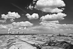 сила завода шахты бурого угля Стоковые Изображения