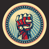 Сила и принципиальная схема протеста. Стоковое Изображение