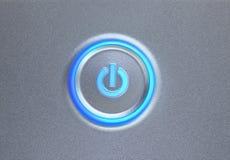 сила кнопки накаляя Стоковая Фотография RF
