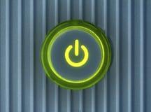 сила компьютера кнопки Стоковое Изображение RF