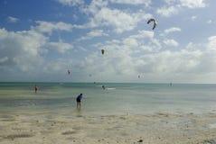сила пляжа kiting Стоковые Изображения