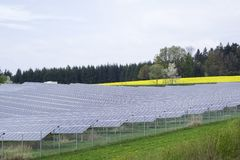 сила солнечная южная Испания завода панелей Стоковые Фото