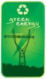 сила энергии зеленая Стоковое Изображение