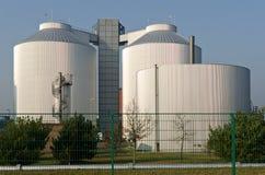 силосохранилища промышленного завода Стоковая Фотография RF